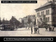 WATERMAEL BOISTFORT MAISON COMMUNALE ET TRAM DE L'EPOQUE.