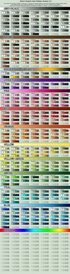 Vibrant Cell-shading Swatch Pallete