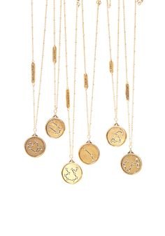 These 22-kt-gold-plated necklaces, featuring zodiac constellations punctuated with sparkly crystals, make a great, glittery gift even when Mercury is in retrograde. $48