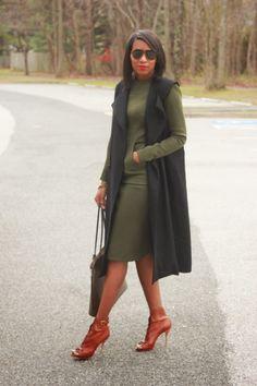 DIY Neoprene dress and sleeveless coat