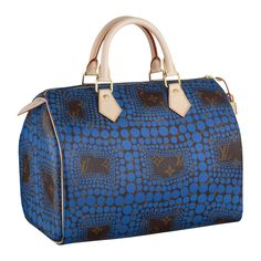 Louis Vuitton Yayoi Kusama Monogram Town Speedy 30 Blue M40691