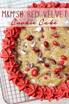 M&M Red Velvet Cookie featured on 30 Valentine's Day Recipes from The Best Blog Recipes
