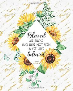 Blessed are those: Bible Quote Sunflower Gold Marble Blank Bullet Journal, 160 Dot Grid Pages, 8 x 10 Blank Bullet Journal Notebook with inch Dotted Paper, Perfect Bound Softcover Bible Verses Quotes, Bible Scriptures, Faith Quotes, Tattoo Bible Quotes, Scriptures About Fear, Cute Bible Verses, Bible Verse Wallpaper, Bible Verse Background, Bible Verse Painting