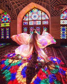 Architecture Discover Beauty of shapes and colors Nasir ol Molk Mosque Shiraz. Persian Architecture, Mosque Architecture, Ancient Architecture, Architecture Design, Shiraz Iran, Pink Mosque, Iran Girls, Iran Tourism, Iran Pictures