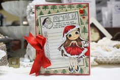 Made by Cindy Hoesel, Time for Tea Designs, Jo Davies, Santa Baby, Christmas card, card, Copics, Whimsy Stamps