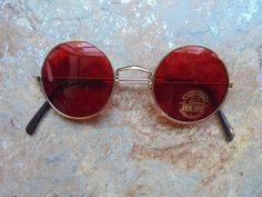 1 Sonnenbrille im 70s Style Stil rot Hippie Goa Brille Retro Vintage rund 70er