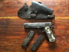 WW I I  Colt 1911 from downed plane in Germany Colt 1911, 1911 Pistol, Military Weapons, M1911, Pistols, World War Ii, Hand Guns, Firearms, Ww2