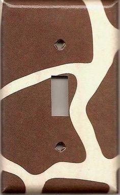 Giraffe Animal Print African Safari Brown & Cream/Beige Switchplates & Outlets