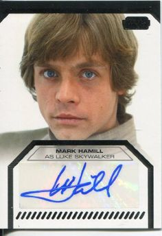 Buy New: $1,299.99: Star Wars Galactic Files Trading Cards Autograph Card Mark Hamill