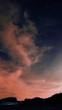 1080x1920 Wallpaper night, sky, stars, clouds