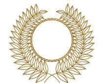 AUF Verkauf GOLDEN Circle Mandala 8 Maschine Stickerei Design 4 x 4 Reifen Redwork Instant Download