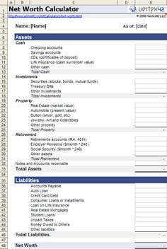 Asset And Liability Statement Template Do You Know How To Calculate Your Net Worth  Household Notebook .