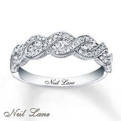 Neil Lane Designs Ring 3/8 ct tw Diamonds 14K White Gold.... I loooove a right hand diamond ring!