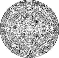 Here's a transparent Aztec Calendar because we all could use one on our pages Aquí ay une calendario Azteca para sus paginas! Aztec Tattoo Designs, Aztec Designs, Aztec Society, Arte Latina, Aztec Symbols, Aztec Empire, Aztec Culture, Aztec Calendar, Tattoo Ideas