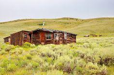 Abandoned Farm Buildings Outside of Steamboat Springs, Colorado.  Near Toponas.