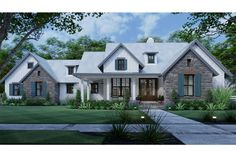 Garage House Plans, Best House Plans, New Home Plans, French Country House Plans, Modern Farmhouse Plans, Build Your Own House, House Layouts, Building A House, Building Ideas