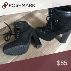 Coach suede boots size 9 Platform suede coach booties .  Gently worn Shoes Ankle Boots & Booties