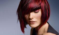 #goldwell #bob #red #wine #black #hair
