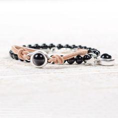 Mystic Black - Armbänder mit Swarovski Crystal Pearls und Swarovski Crystal Cabochons von Glücksfieber.