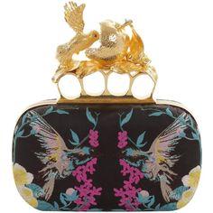 Alexander McQueen Embroidered Apple & Hummingbird Skull Knucklebox... ($2,845) ❤