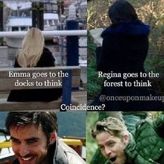 Proof that Captain Swan and Outlaw Queen are endgame!I think not! Best Tv Shows, Best Shows Ever, Favorite Tv Shows, Movies And Tv Shows, Ouat, Once Upon A Time Funny, Once Up A Time, Outlaw Queen, Captain Swan