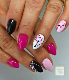 Playful love nail design