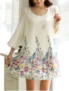 Sweet Scoop Neck Sunflower Print Color Block Short Sleeve Women's DressSummer Dresses   RoseGal.com