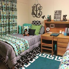 Baylor University dorm room // So many things to love about this!