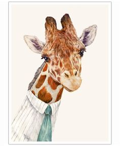Mr Giraffe VON Animal Crew now on JUNIQE!