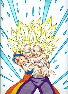 Son Goku et Caulifla - Super Saiyan Full Power by FoxBond on DeviantArt Super Saiyan Full Power, Akira, Dragon Ball Z, 2000s Cartoons, Goku Manga, Wrestling Stars, Son Goku, Dbz, Geek Stuff