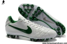cce7a1018d 2013 New Nike Tiempo Legend IV Elite AG - White-Dark Green Soccer Boots Shop