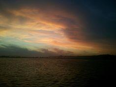 Río de la Plata, frente a la costa de Uruguay.