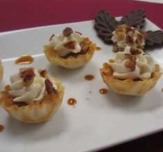 Print Recipe Description:With a sweet filling flavored by thickened, condensed milk and maple syrup, these Mini Fillo Shell desserts become even more tempting when topped with whipped cream and toasted pecans.Ingredients: 1 (14 ounces) can sweetened condensed milk 2/3 cup pure maple syrup 1/8 teaspoon salt For Topping: 1 cup heavy cream 1/4 cup confectioners …