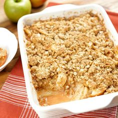 What do you do with all the fruit left over from apple picking? Make a treat! Our Apple Crisp recipe is totally easy and the only one you'll ever need.