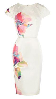 Slim Fit Floral Prints Dress