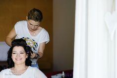 bridal hair in lake Garda preparation