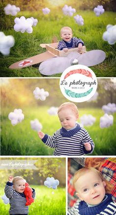 Great idea for children photoshoot: A carton / paper plane to play with kids! www.lephotograph.es