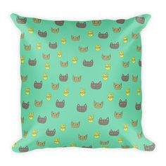Catsy 2.0 Square Pillow