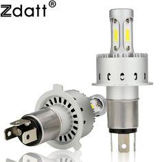 Zdatt Super H4 Led Bulb H7 H11 HB3 9005 90W 12000Lm Headlights Car Light 12V Led Auto Automobiles DRL Fog Headlamp 6500K White