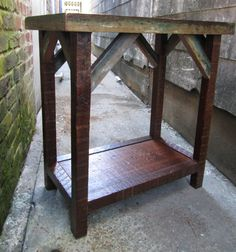 The Artisan TableHandmade Side Table Made From by DoormanDesigns, $400.00