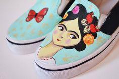 Resultado de imagen para zapatillas frida kahlo