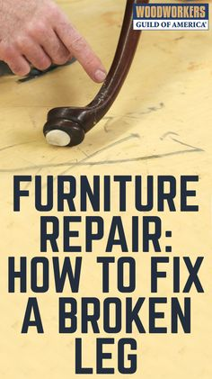 Once people know that you do woodworking, they probably ask you if you can fix broken furniture, like a furniture leg repair that recently came into George's shop. While every repair is different, here are some tips that will help you the next time a repair comes into your shop. #woodworkingshop