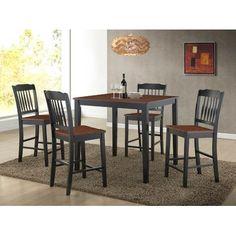 Roundhill Furniture Anja 5 Piece Dining Set