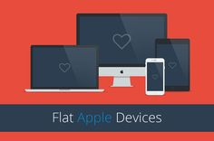 Freebie this week: Flat Responsive Apple Web Mockups by mmminimal on Creative Market