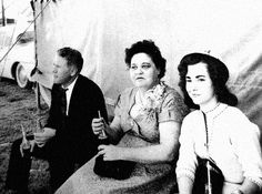 Vernon and Gladys Presley with Barbara Hearn. Tupelo, 1956.