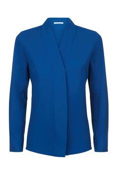 Bowery Blouse Cobalt Blue
