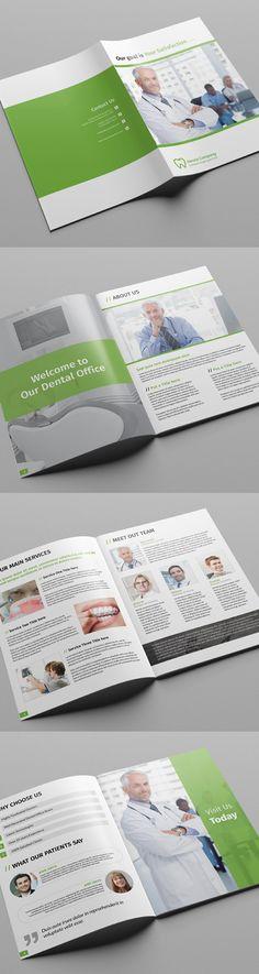 Dental / Doctor Brochure Template #booklet #brochuredesign #brochuretemplates #catalogdesign