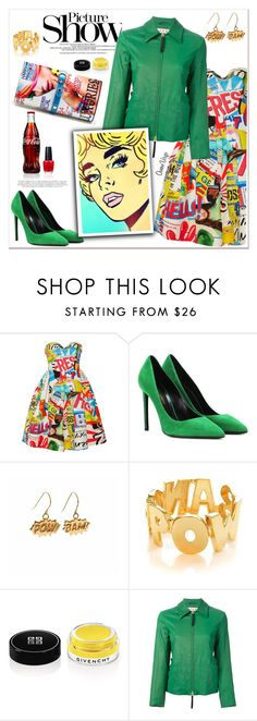 """""""Moschino Dress"""" by queenvirgo ❤ liked on Polyvore featuring Moschino, Yves Saint Laurent, SANCHEZ, Edge Only, Noir, Givenchy, Marni, Posh Girl and OPI"""
