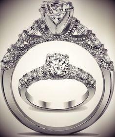 Diamond Waves Engagement Ring