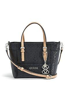 GUESS Women's Delaney Textured Logo Mini Tote Bag - Handbag